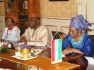 Amb. Ononye and his staff in discussion with the President