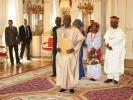 The Ambassador with his credentials